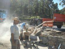 Réalisation d'un banc en pierres