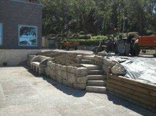 Réalisation d'un escalier en pierres