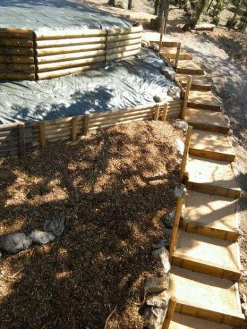 Vue avant plantation du talus