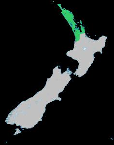 Aire de répartition géographique naturelle de l'Agathis australis