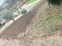 délimitation de la zone à bâcher et planter