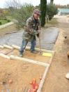 Compactage définitif du sable stabilisé