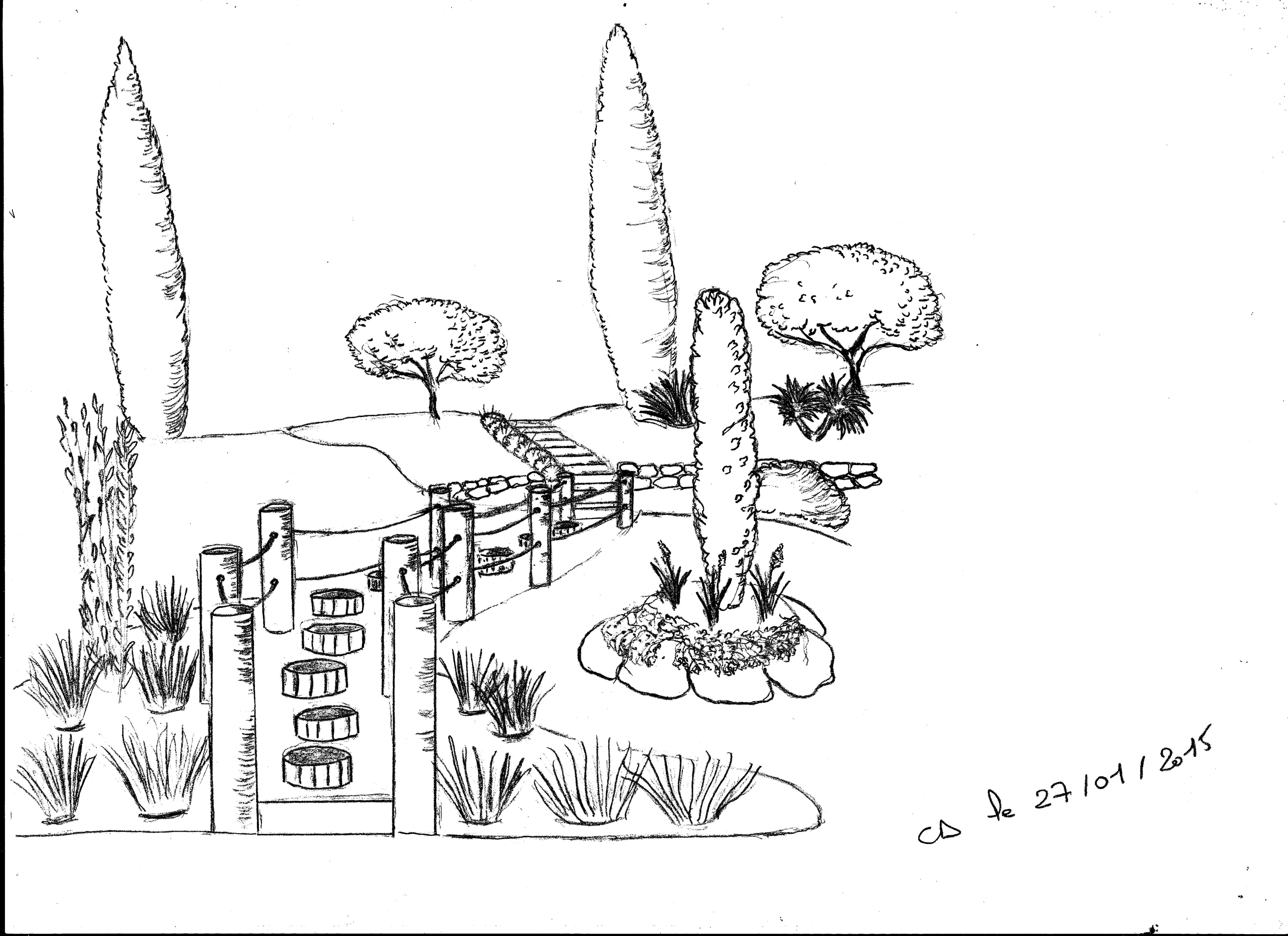 Pas japonais sur lev la passion des jardins et de la nature for Jardin japonais dessin