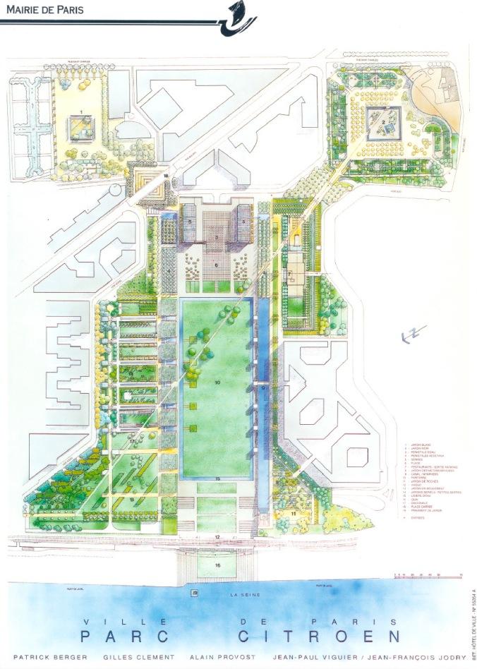 Plan du Parc André Citroën