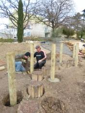 4-Mise en place des poteaux verticaux