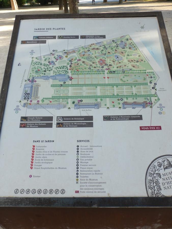 Plan du jardin des plantes