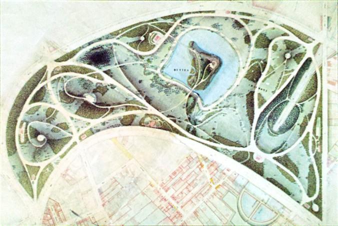 Plan du Parc en 1888