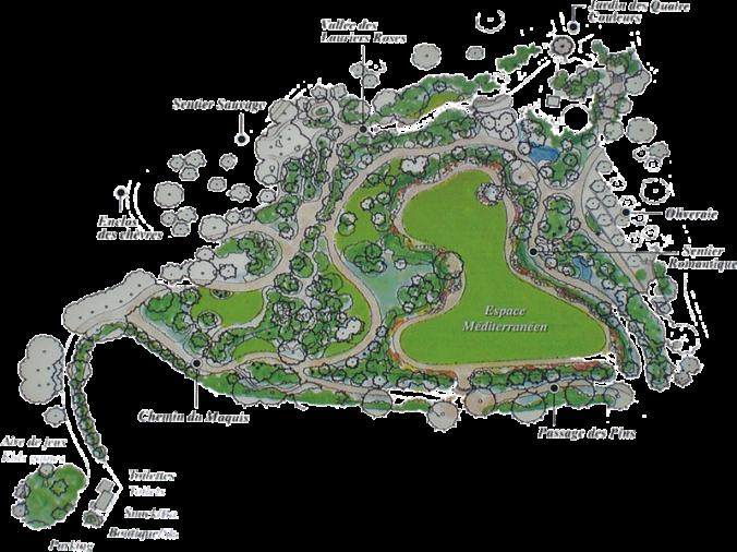 Plan du Parc de Saleccia