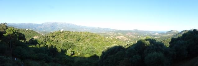 Vue du golfe de Saint Florent du village d'Oletta