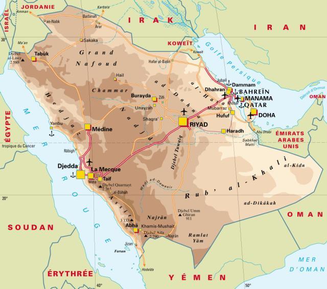 carte-arabie-saoudite