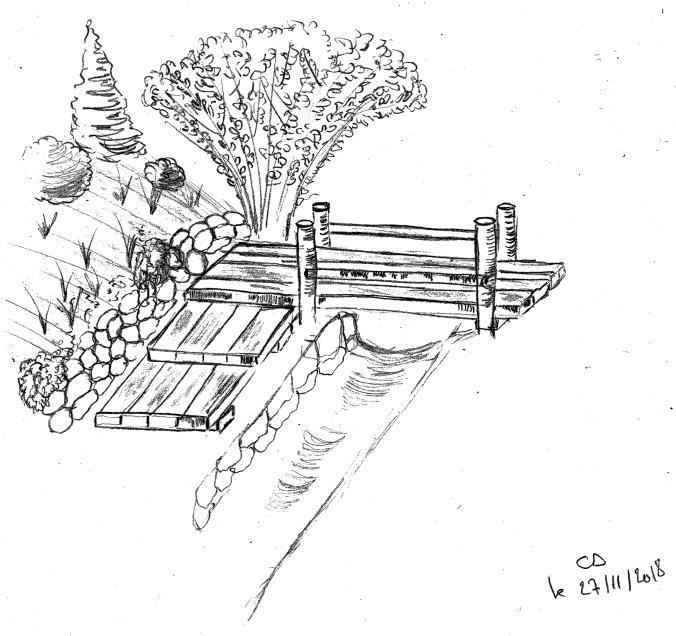 pont jardin exotique